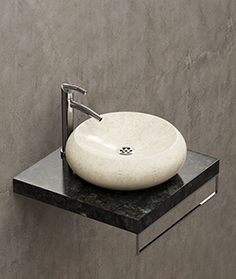 Tex stone washbasin cricle