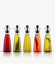 Decanter of oil and vinegar