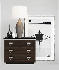 Chest of drawer with table lamp 2