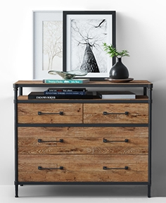 Juno chest of drawers made of wood