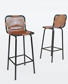 Bar chair with leather set