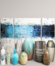 Metallic vases 07
