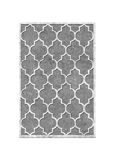 Tufted dark grey rug 03