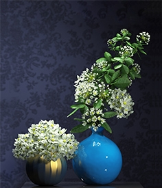 Bouquet of flowers in a vase 085