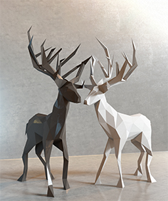 Decor of deer 02