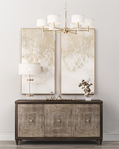 Sideboard with table lamp 05