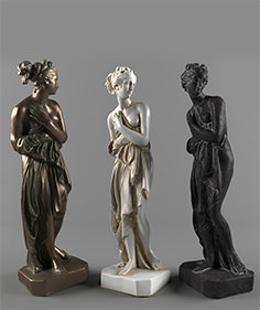 Decor bronze women 001