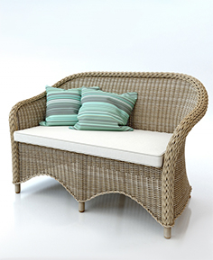 Rattan couch sofa 009