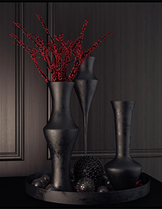 Decorative set with vase of flower 07