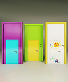 Colorful doors 45